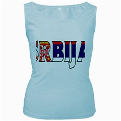 Serbia2 Womens  Tank Top (baby Blue)