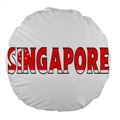 Singapore 18  Premium Round Cushion