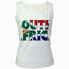 South Africa Womens  Tank Top (white)
