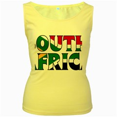 South Africa Womens  Tank Top (Yellow)