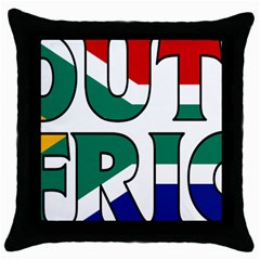 South Africa Black Throw Pillow Case