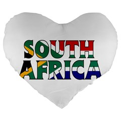 South Africa 19  Premium Heart Shape Cushion