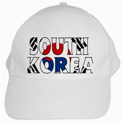 South Korea White Baseball Cap