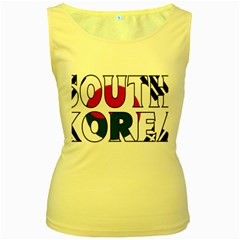 South Korea Womens  Tank Top (Yellow)