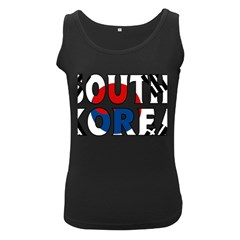South Korea Womens  Tank Top (Black)
