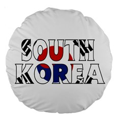 South Korea 18  Premium Round Cushion