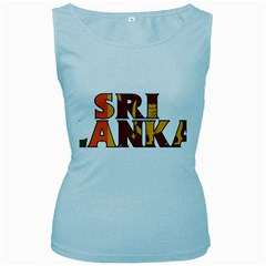 Sri Lanka Womens  Tank Top (Baby Blue)