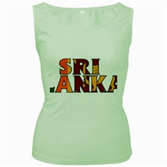 Sri Lanka Womens  Tank Top (Green)