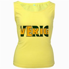 Sweden Womens  Tank Top (yellow)