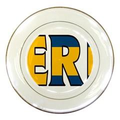 Sweden Porcelain Display Plate