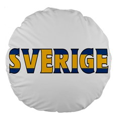 Sweden 18  Premium Round Cushion