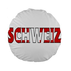 Switzerland 3 15  Premium Round Cushion