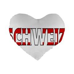 Switzerland 3 16  Premium Heart Shape Cushion