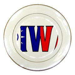 Taiwan Porcelain Display Plate