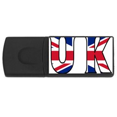 Uk 4GB USB Flash Drive (Rectangle)