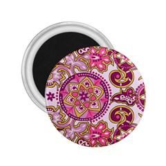 Floral Fantasy 2.25  Button Magnet