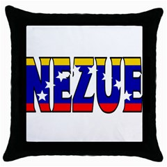 Venezuela Black Throw Pillow Case