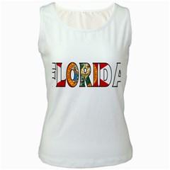 Florida Womens  Tank Top (White)