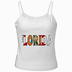 Florida White Spaghetti Top