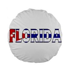 Florida Cuban 15  Premium Round Cushion
