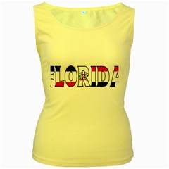 Florida Dominican Republic Womens  Tank Top (yellow)