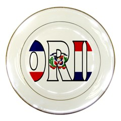 Florida Dominican Republic Porcelain Display Plate