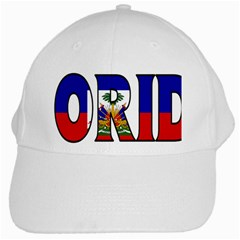Florida Haiti White Baseball Cap