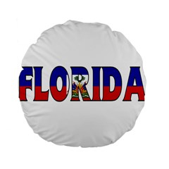 Florida Haiti 15  Premium Round Cushion