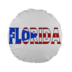 Florida P Rico 15  Premium Round Cushion