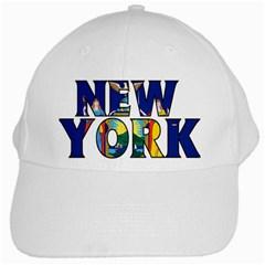 New York White Baseball Cap