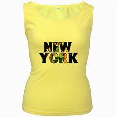 New York Womens  Tank Top (Yellow)