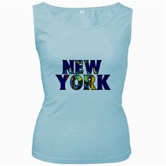 New York Womens  Tank Top (Baby Blue)