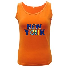 New York Womens  Tank Top (Dark Colored)