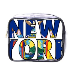 New York Mini Travel Toiletry Bag (One Side)