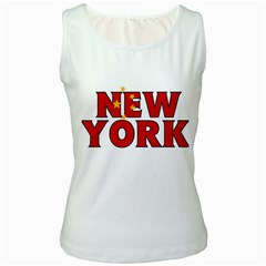 New York China Womens  Tank Top (white)