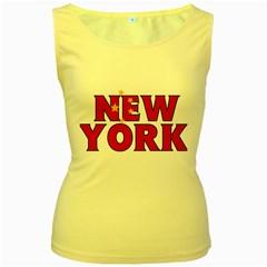 New York China Womens  Tank Top (Yellow)