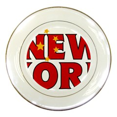 New York China Porcelain Display Plate