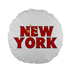 New York China 15  Premium Round Cushion