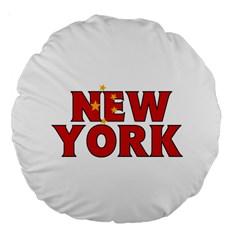 New York China 18  Premium Round Cushion