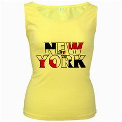 New York Dr Womens  Tank Top (yellow)