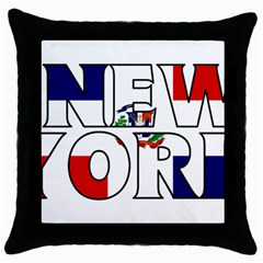 New York Dr Black Throw Pillow Case