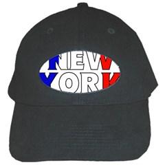 New York France Black Baseball Cap