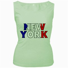 New York France Womens  Tank Top (Green)