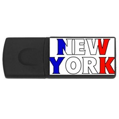 New York France 4GB USB Flash Drive (Rectangle)