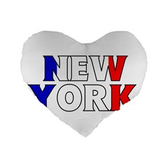 New York France 16  Premium Heart Shape Cushion
