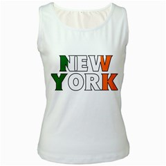 New York Ireland Womens  Tank Top (White)