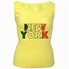 New York Ireland Womens  Tank Top (Yellow)