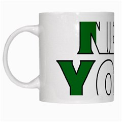 New York Ireland White Coffee Mug