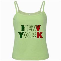 New York Italy Green Spaghetti Tank