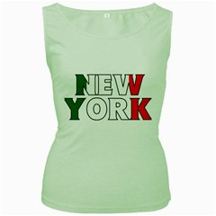 New York Italy Womens  Tank Top (Green)